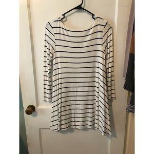 S black & white long sleeve dress